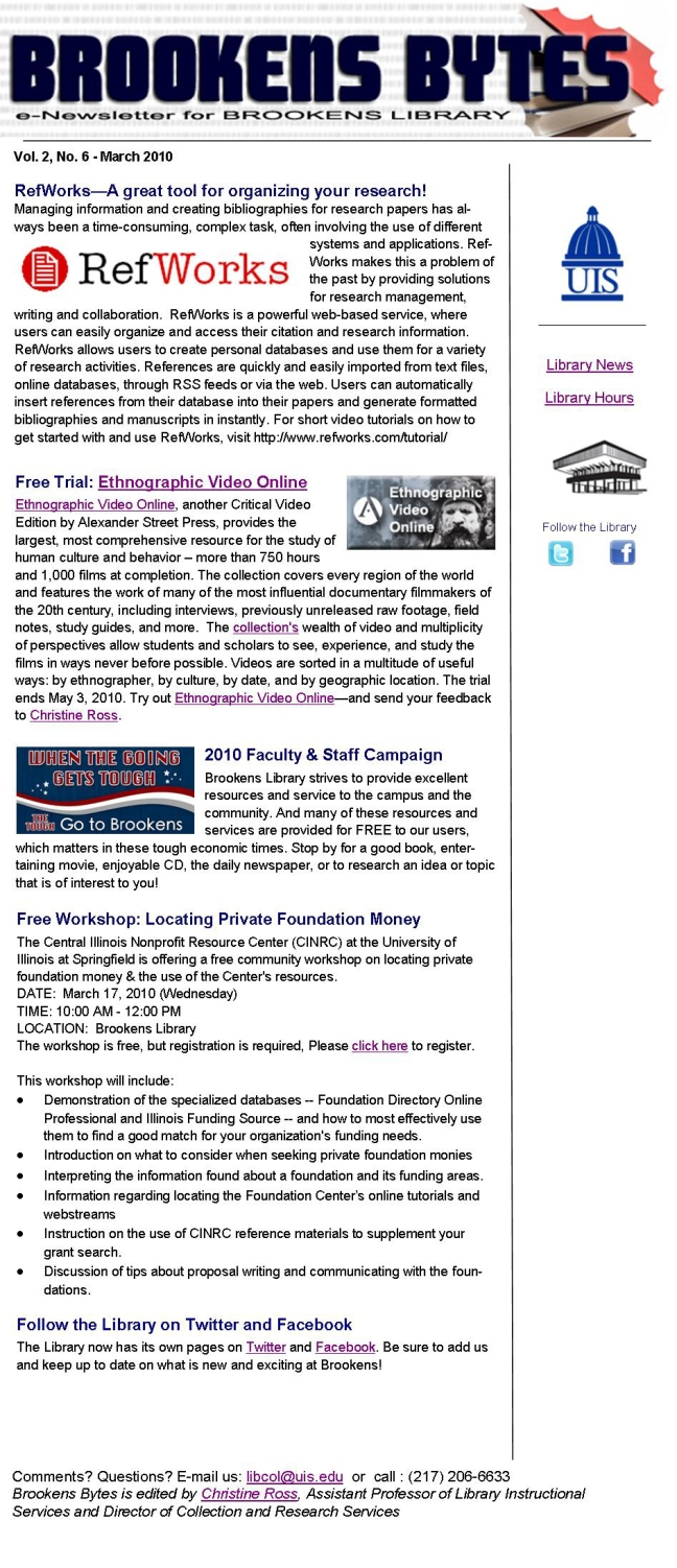 Brookens Bytes March 2010 Newsletter