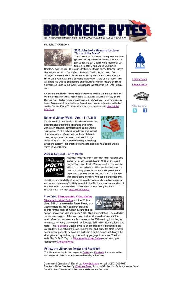 Brookens Bytes April eNewsletter