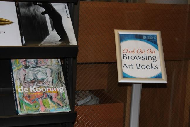 Browsing Art Books Sign