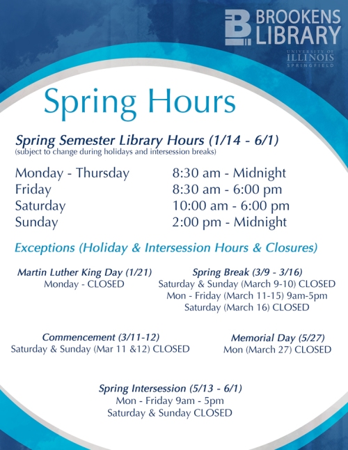 Spring 2013 Semester Hours
