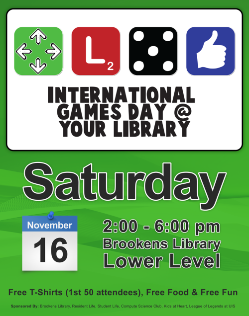 Internation Games Day @ Brookens Library