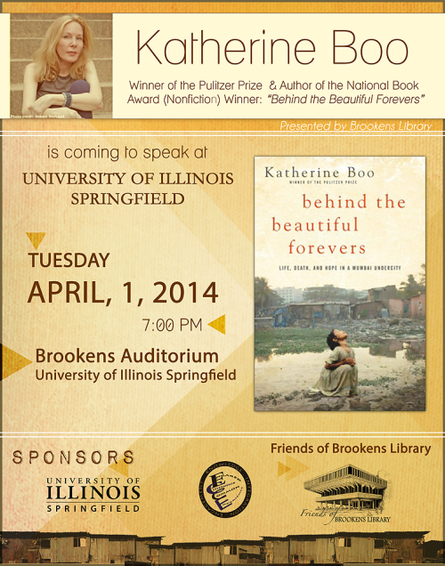 Katherine Boo Lecture at the University of Illinois Springfield 4/1/2014