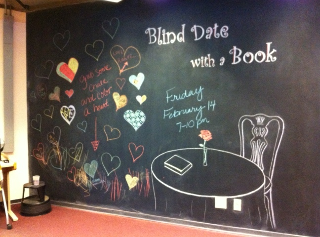 Blind Date with A Book - Chalkboard Wall