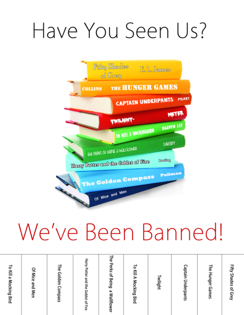 Brookens Library Banned Books Week 2014