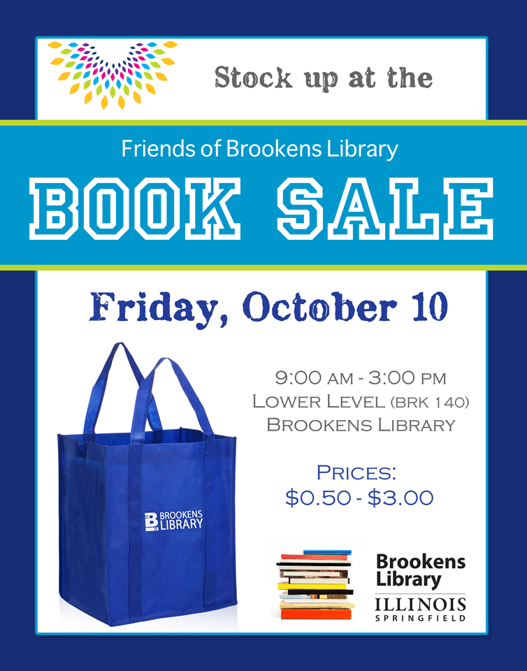Friends of Brookens Library Book Sale_October 10