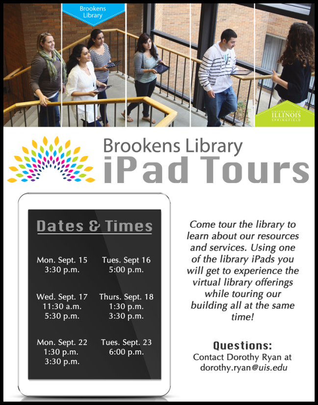 Brookens Library iPad tours  Fall 2014