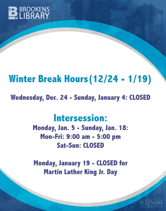 Winter Break hours_2014