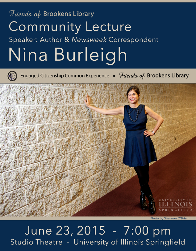 Nina Burliegh Speaks at 2015 Friends of Brookens Library Annual Meeting