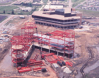 Brookens Library Construction -  1975
