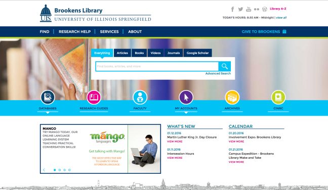 Brookens Library Website