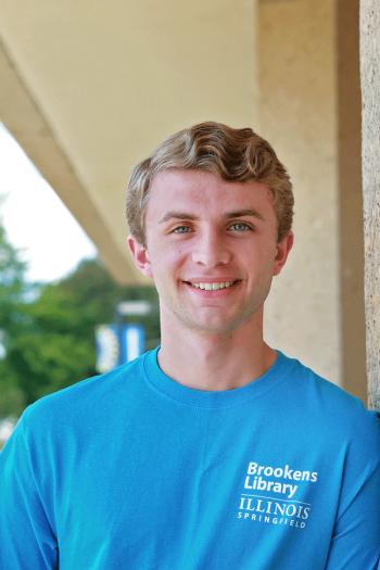 Garrett, a student worker