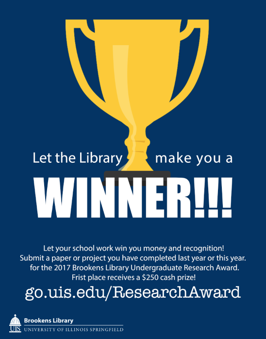 Brookens Library Undergraduate Research Award