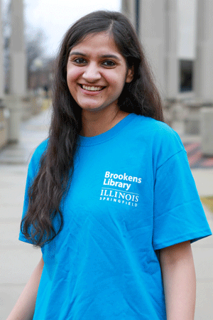 Marisha, a student worker