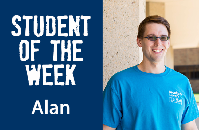 student of the week Alan