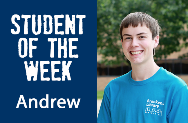Student of the week Andrew