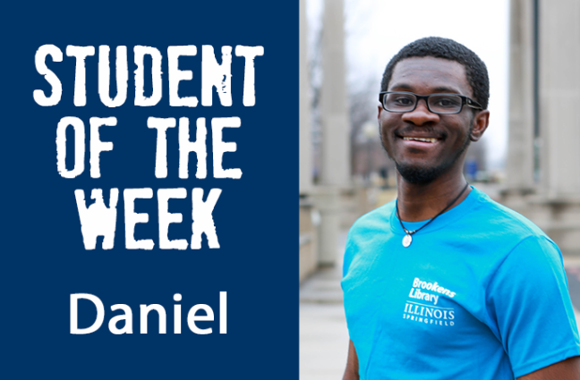 Student of the week Daniel