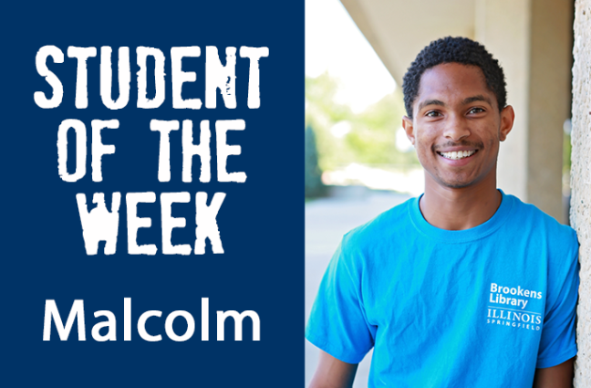 Student of the week Malcolm