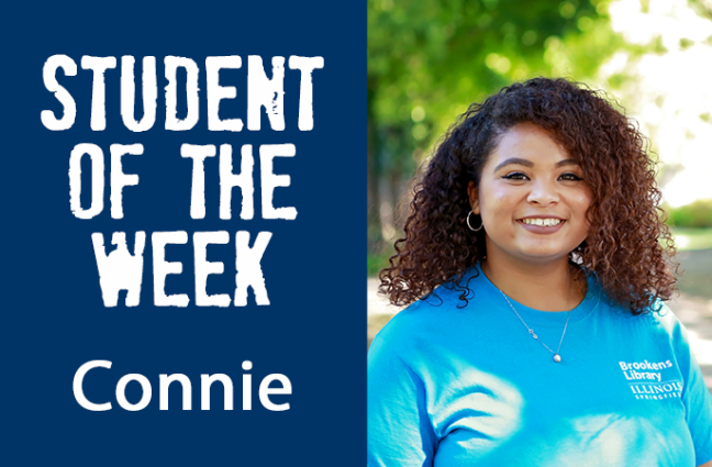 Student of the week Connie