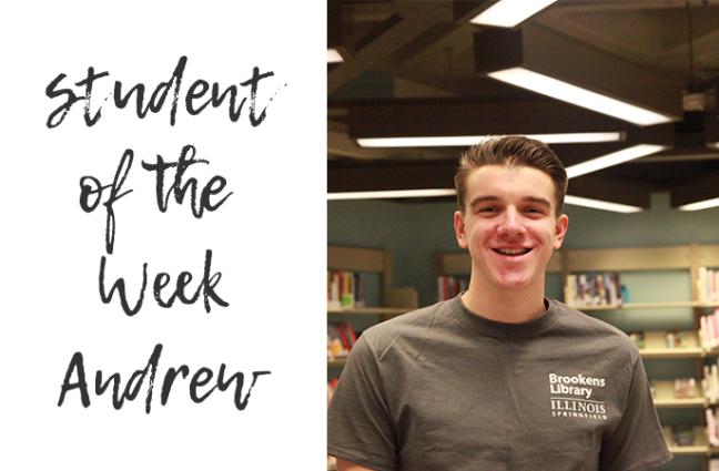 Photo of student employee Andrew.