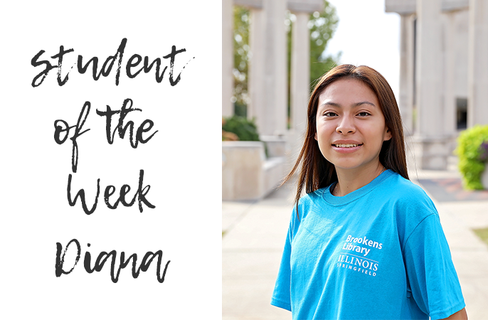 Photo of student of the week diana.