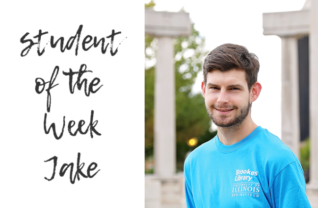 Photos of student employee Jake.