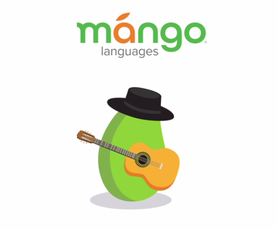 Mango wearing a black hat and holding a guitar