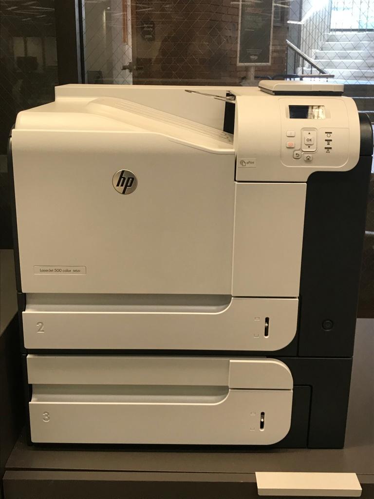 Printer at Brookens Library