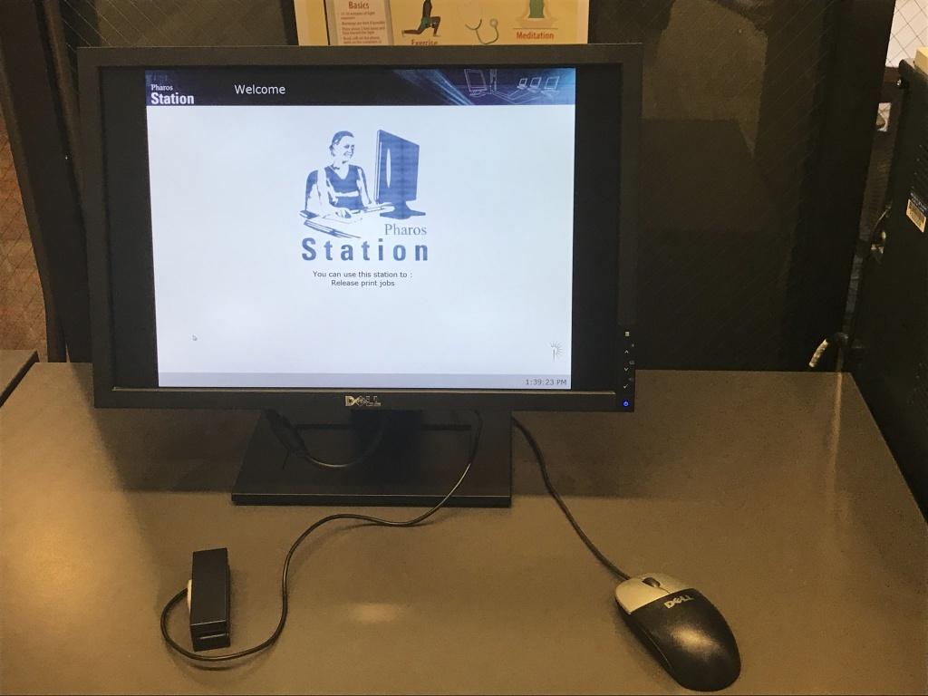 Printing Station at Brookens Library