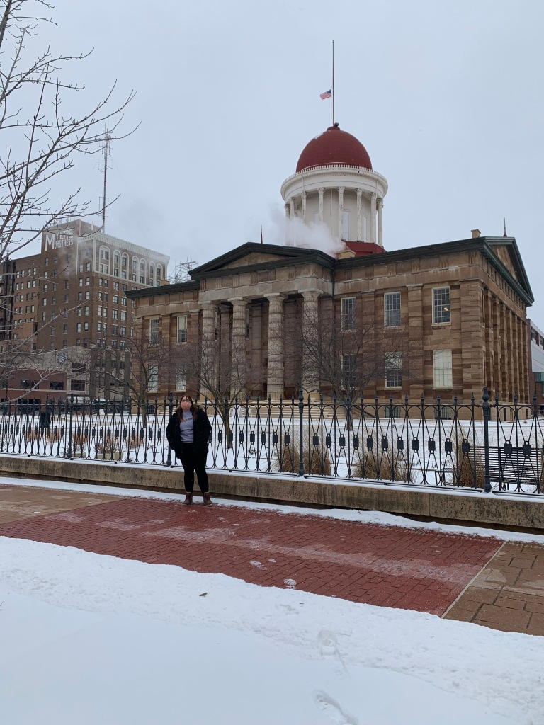 Molly at the Old State Capitol